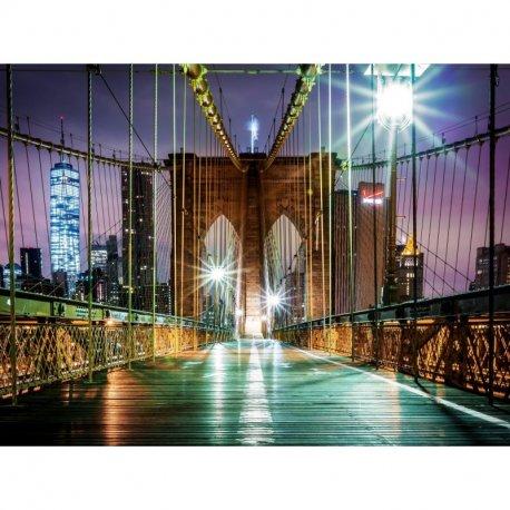 Cruzando a Ponte de Brooklyn