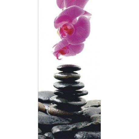 Pedras Zem em Equilíbrio com Flor