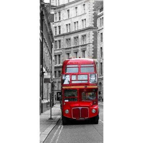 Rua Londres Vermelho sobre Cinzento