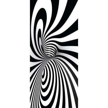 Dupla Espiral em Preto e Branco