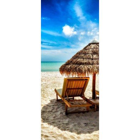 Branca Praia Sob o Céu Azul