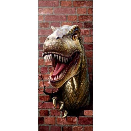 Tiranossauros Rex quebrando Parede