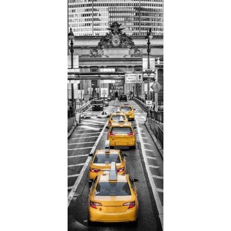 Taxis face a Grand Central Terminal