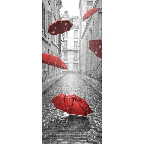 Guarda-chuva Vermelho na Chuva
