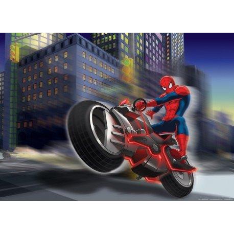 Homem-Aranha em Moto pelas Ruas