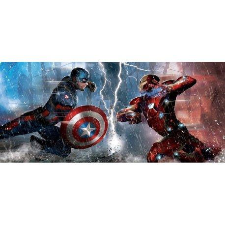 Homem de Ferro e Capitão América Cara a Cara