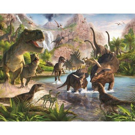 Mundo de Dinossauros Desenho Realista