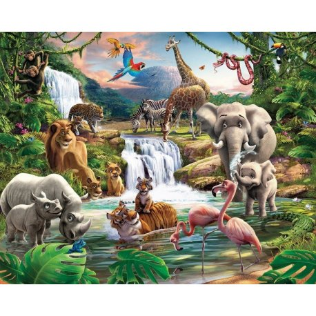 Animais da Selva Desenho Realista