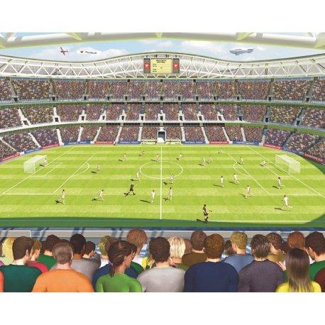 Nas Arquibancadas do Estádio de Futebol