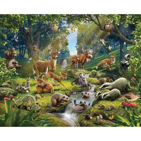 Animais do Bosque Desenho Realista