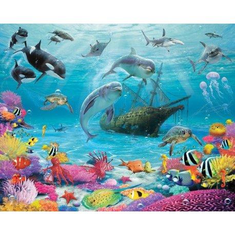 Animais Sob o Mar Desenho Realista