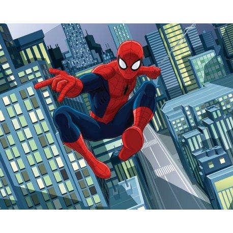 Homem-Aranha Comic Voa entre Arranha-céus