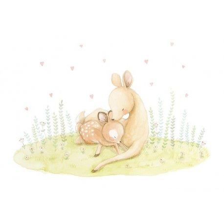 Mamã Cervo cuida do seu Filhote
