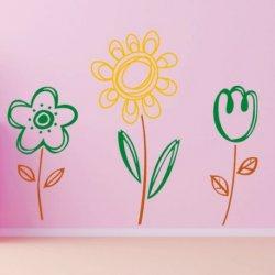 Flores Mágicas de Três Cores
