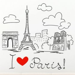 Desenho A Mão Livre Paris