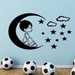 O Pequeno Príncipe Sentado na Lua