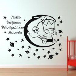 O Pequeno Príncipe sobre a Lua com Estrelas