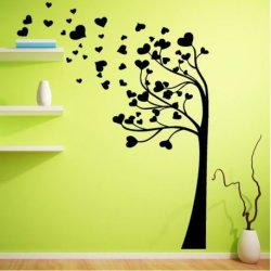Árvore com Folhas de Coração